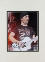 The Edge Autograph Signed Photo - U2